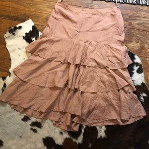 Banana Republic Silk Tiered Skirt